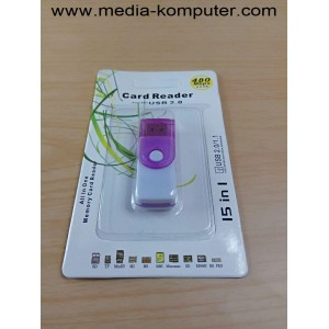 Card reader 15 in 1 Tutup putar