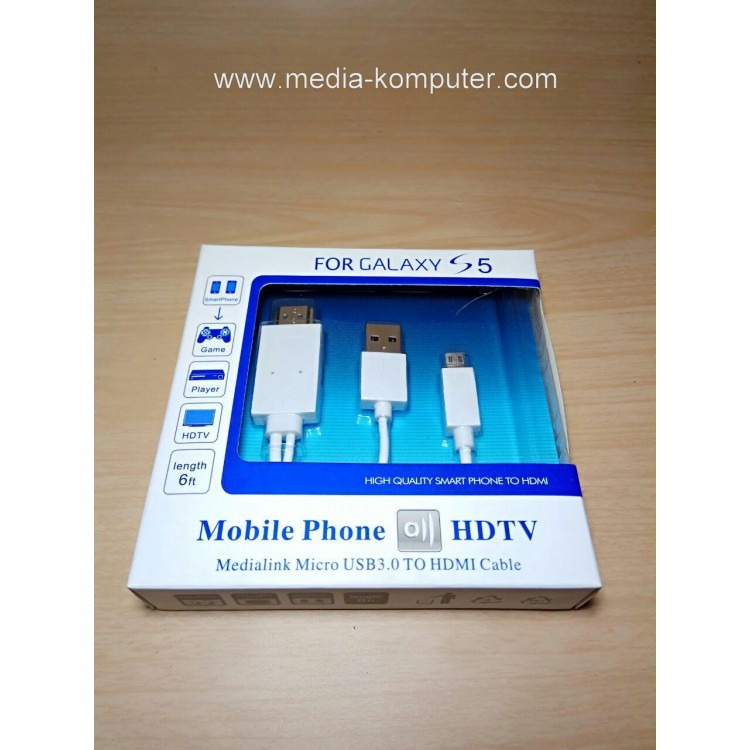 KABEL MHL MICRO USB 11PIN TO HDMI MALE