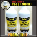 HEAD CLEANER TOKI 2 LITER FREE 6 BOTOL 100ml