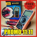 MULTIMETER VICTOR VC890C PLUS FREE KABEL MULTIMETER LANCIP EMAS 1000V