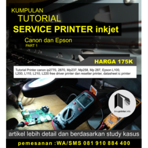 TUTORIAL PERBAIKAN PRINTER INKJET